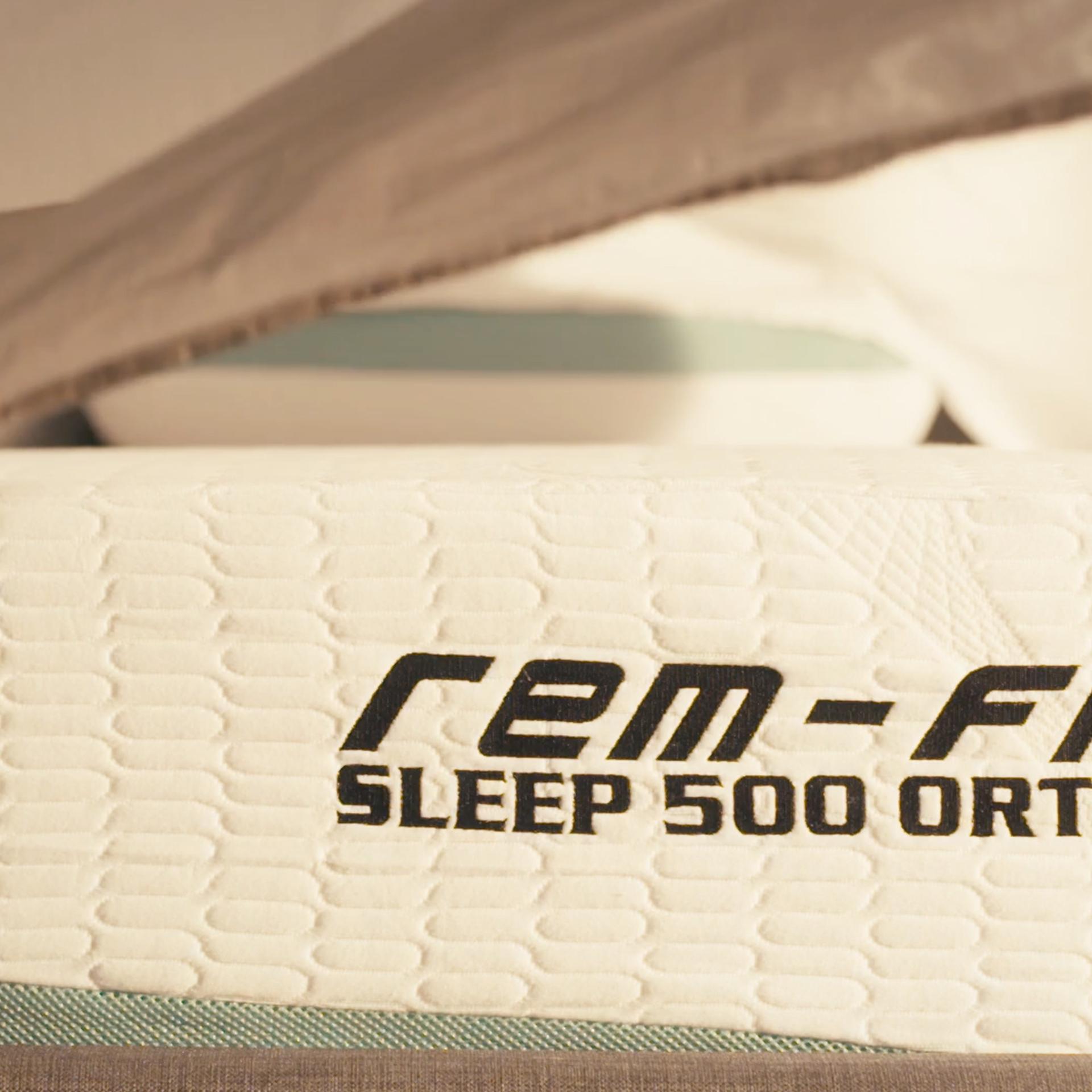 Bed sheet landing on mattress