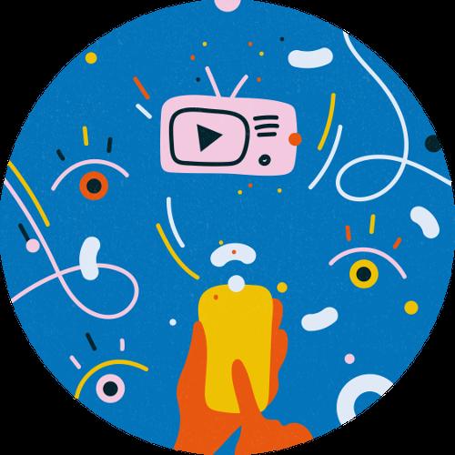 Illustration of broadcast animations