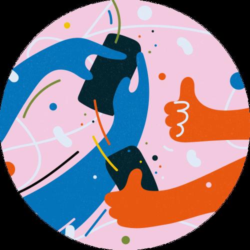 Illustration of social animations